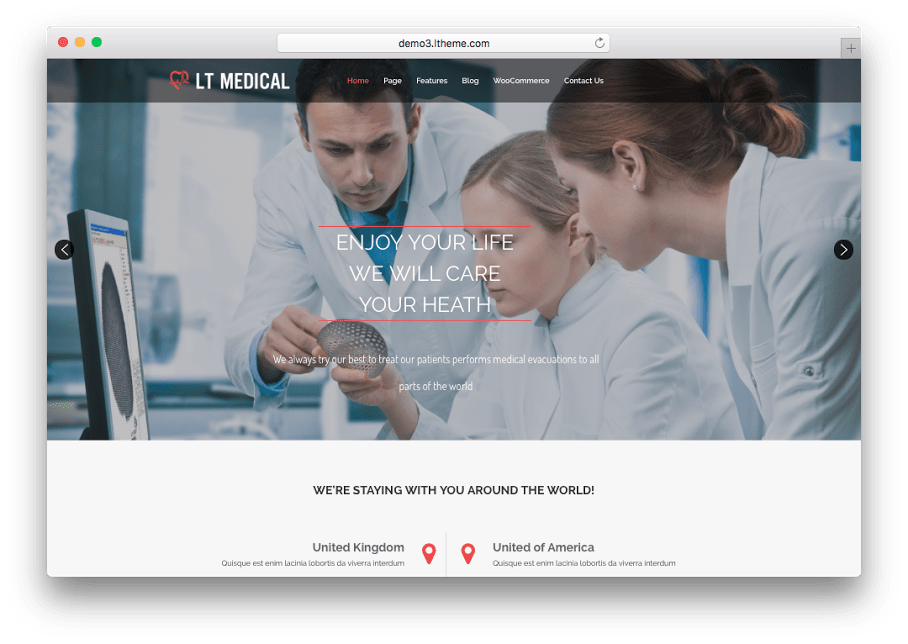 LT Medical WordPress Medical Theme