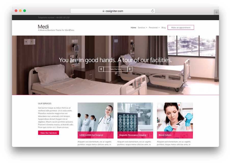 Medi WordPress Medical Theme