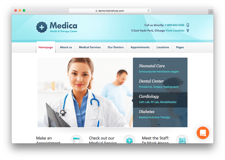 Medica WordPress Medical Theme