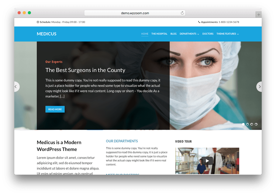 Medicus WordPress Medical Theme