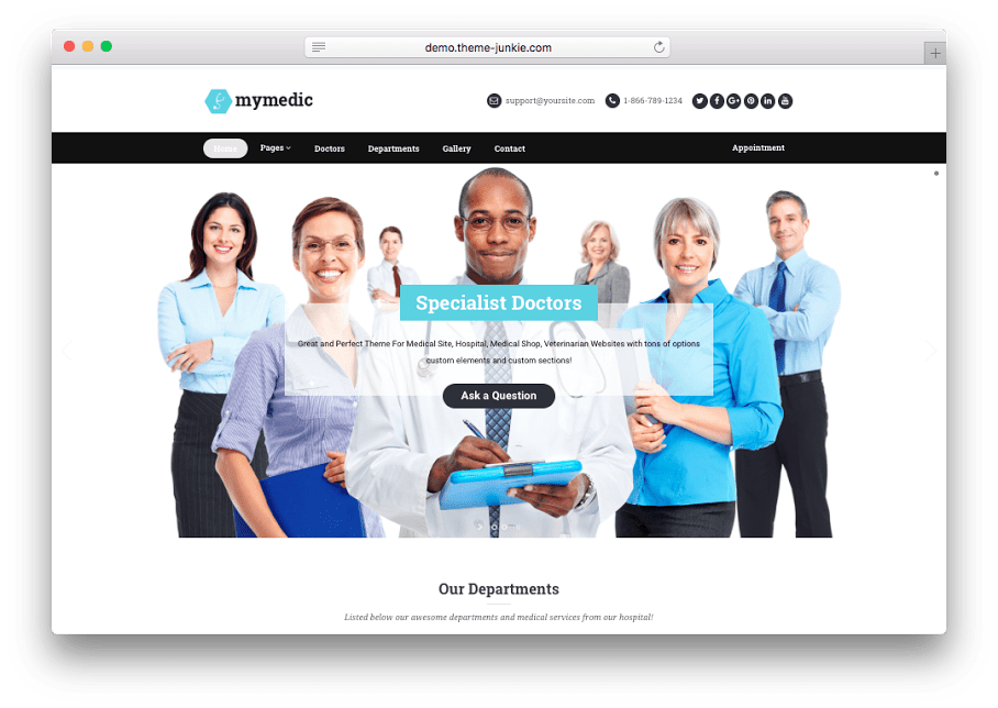 MyMedic WordPress Medical Theme