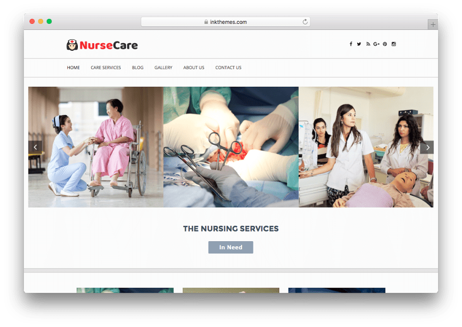 Nurse Care WordPress Medical Theme