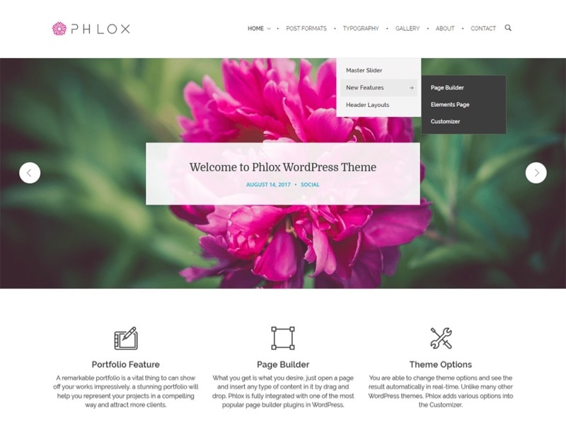 Phlox Free Photographer WordPress Themes