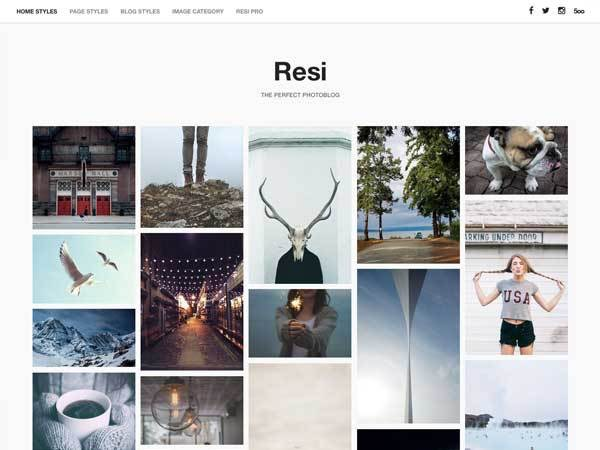 Resi Free WordPress Photographer Theme