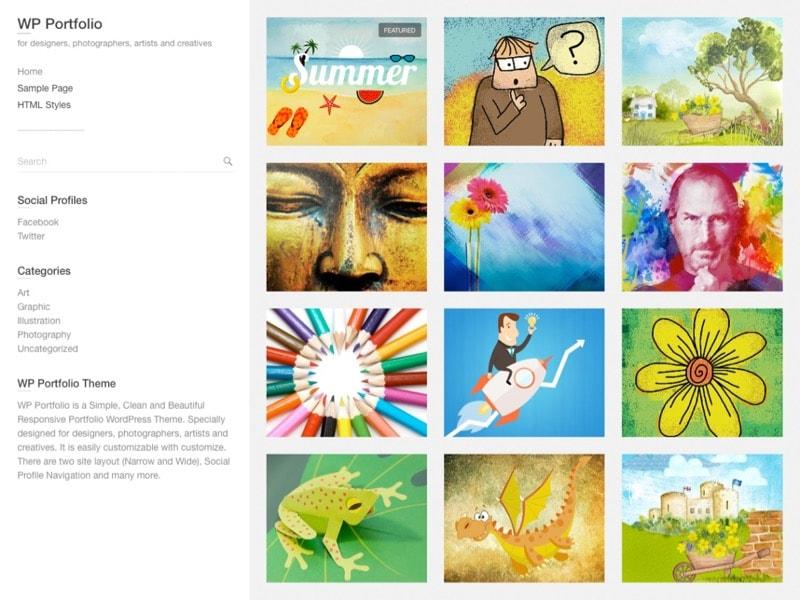 WP Portfolio Free Photographer Theme