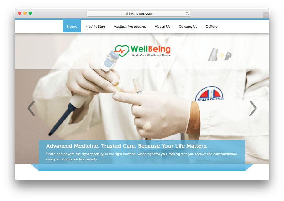 WellBeing WordPress Medical Theme