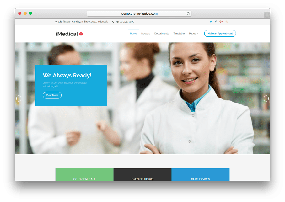 iMedical WordPress Medical Theme