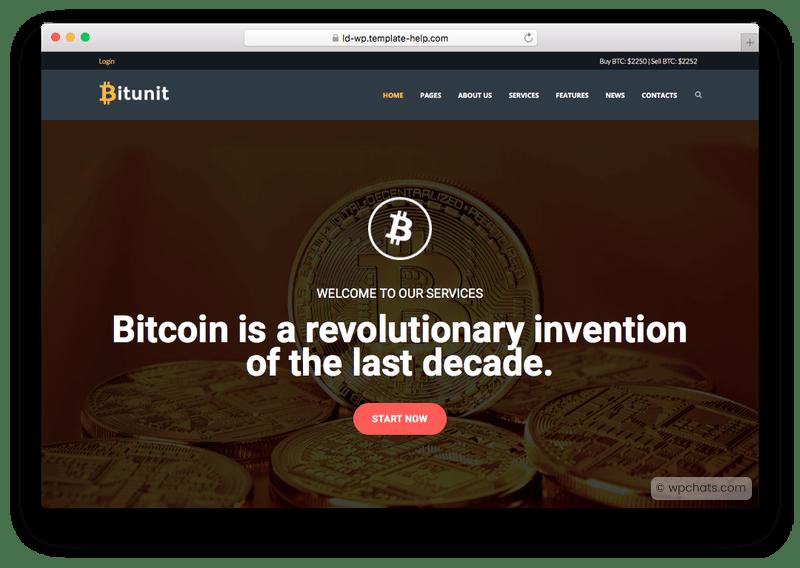 Bitunit Bitcoin Cryptocurrency WordPress Theme