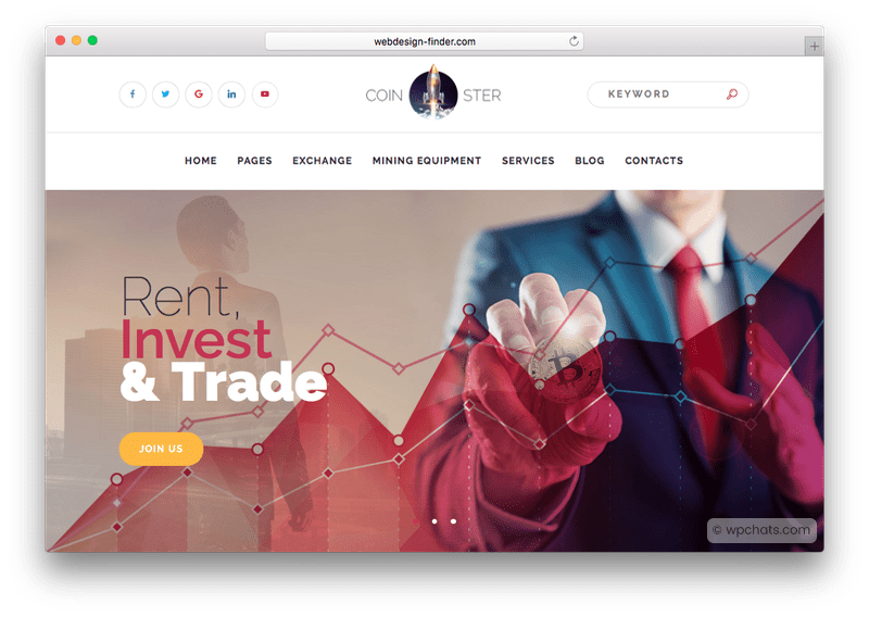 Coinster Cryptocurrency Exchange WordPress Theme