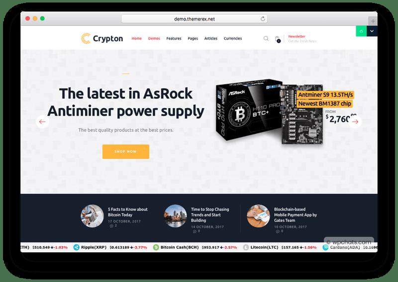 Crypton Multi-Purpose Cryptocurrency WP Theme