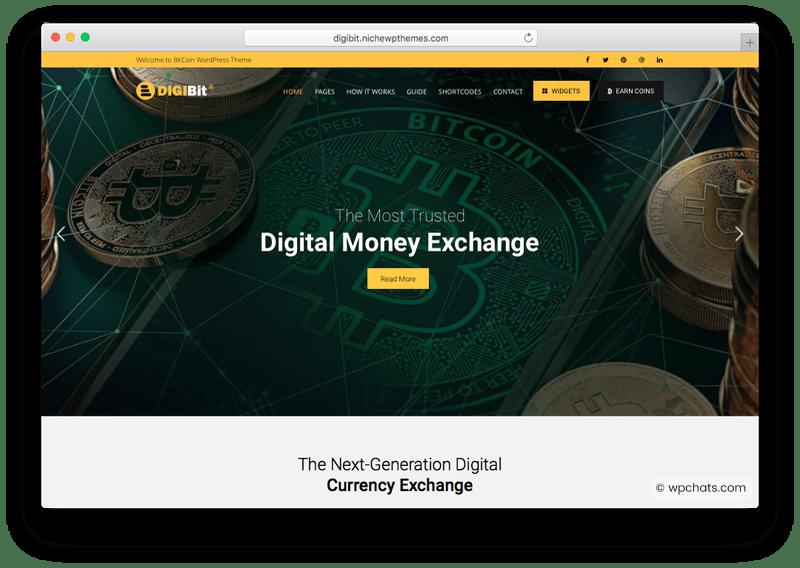 Digi Bitcoin Cryptocurrency WordPress Theme