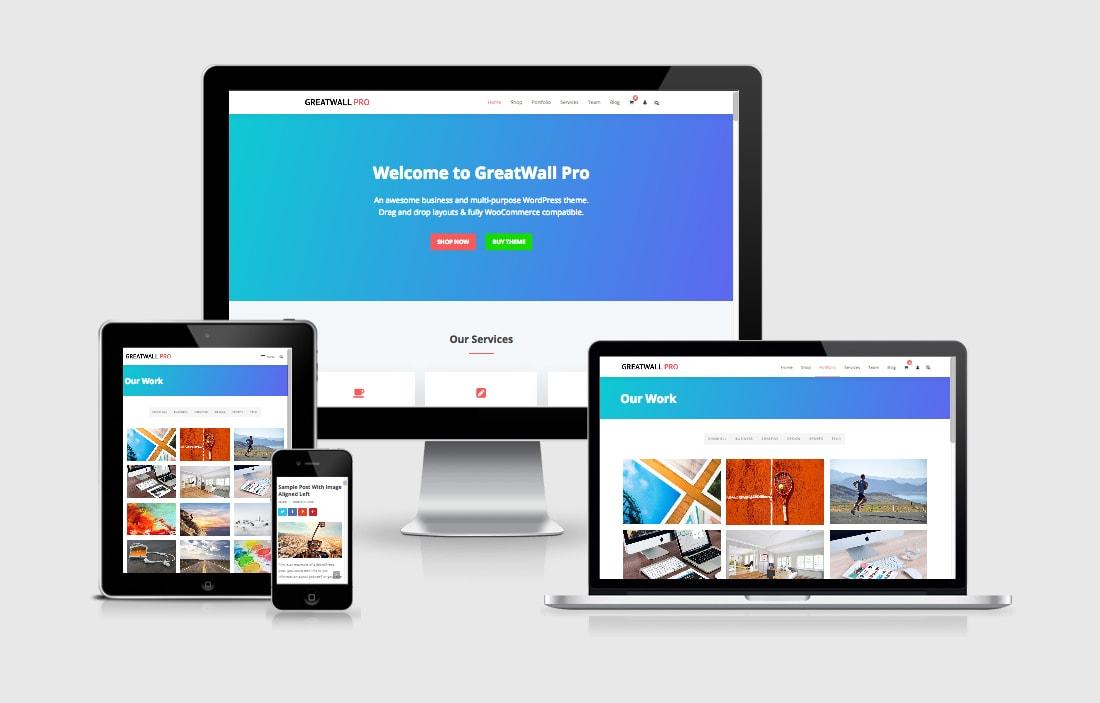 GreatWall WordPress Theme for Multipurpose Web Design Sites