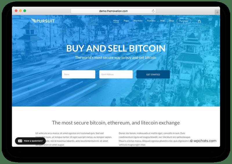 Pursuit Bitcoin WordPress Theme