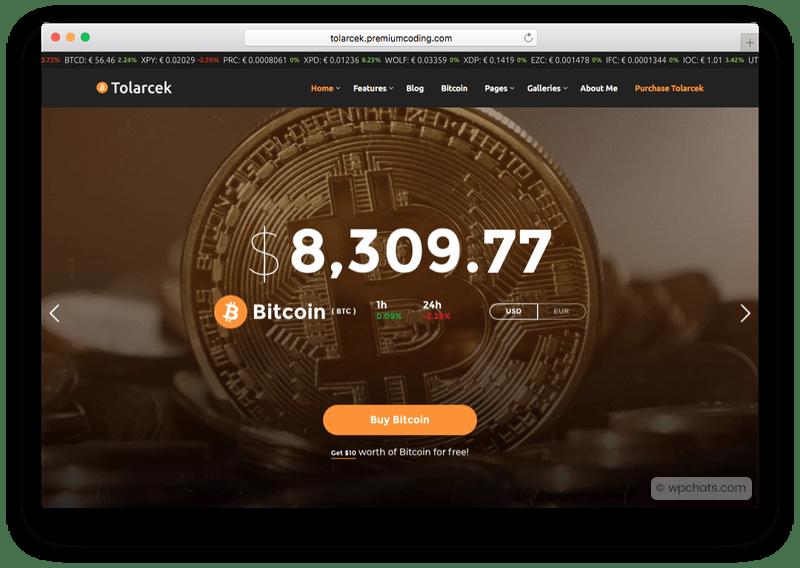 Tolarcek Bitcoin & CryptoCurrency WordPress Theme