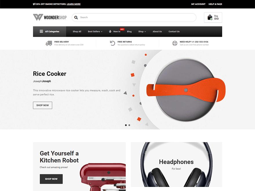 WoonderShop WordPress Theme
