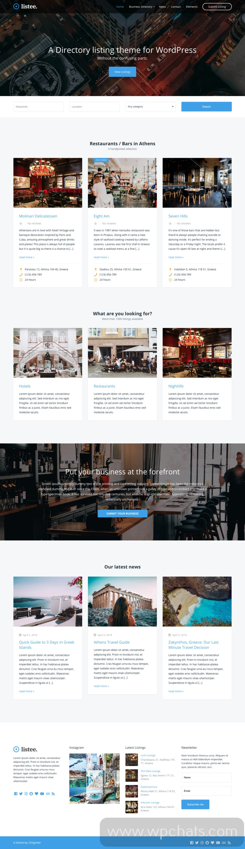 Listee WordPress Business Directory Theme