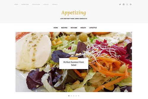 Appetizing WordPress Food Cooking Blog Theme