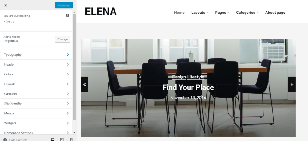 Elena WordPress Theme Features
