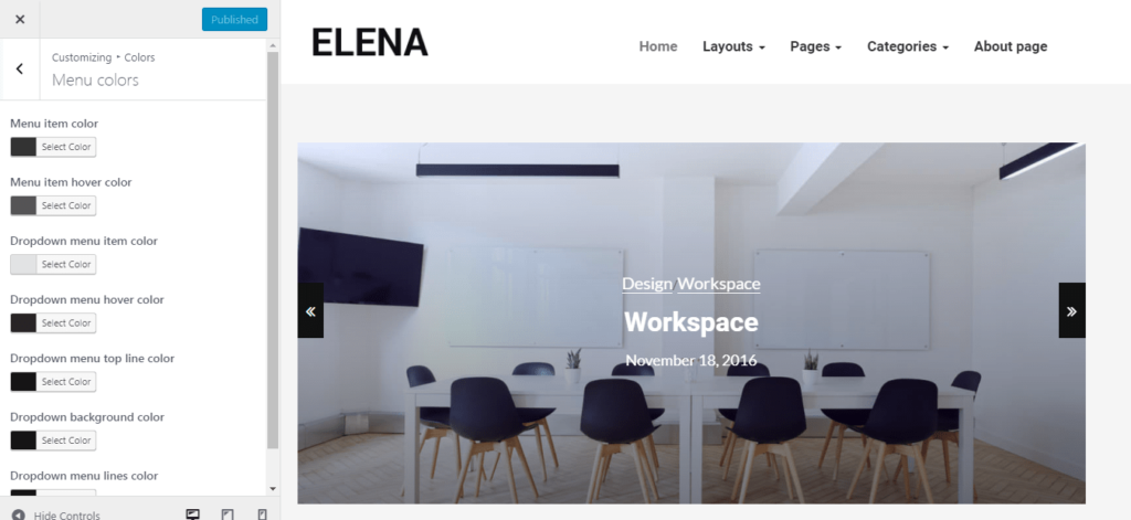 Elena WordPress Theme 3