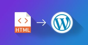 difference between an HTML and WordPress