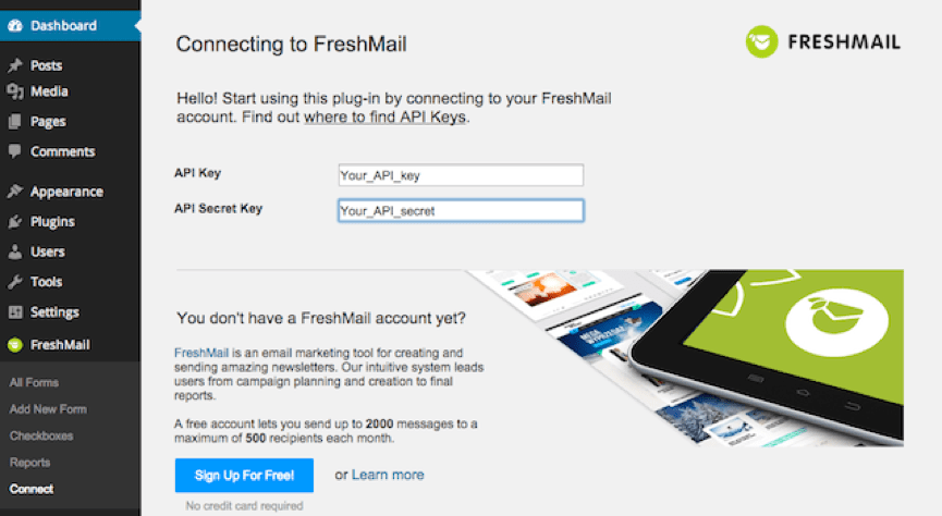 FreshMail Email Plugin for WordPress