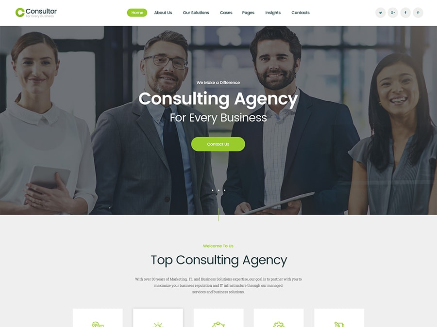 Consultor Business Consulting WordPress Theme