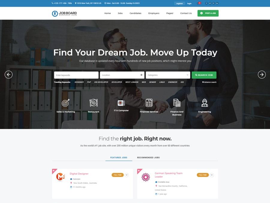 Job Board WordPress Theme InJob