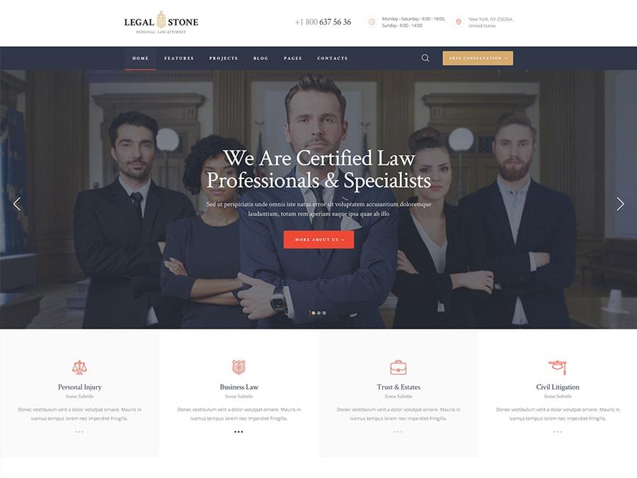 Legal Stone Lawyers & Attorneys WordPress Theme