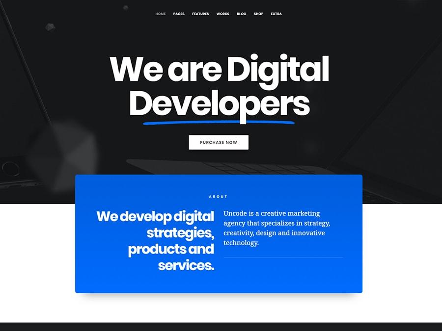 Uncode Creative Multiuse WordPress Theme