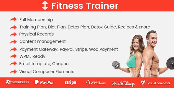 Fitness-Trainer Membership Plugin for WordPress