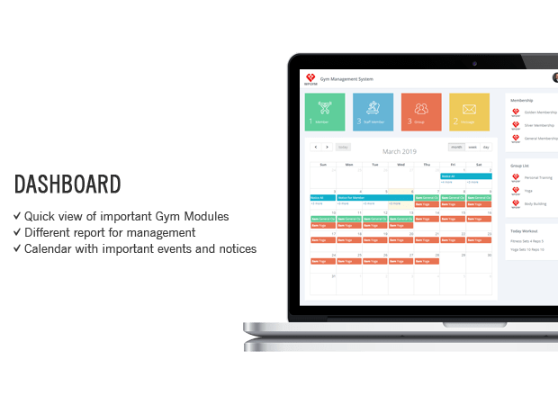 Wordpress Gym Management System