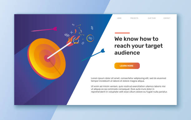 template for web banner or landing page
