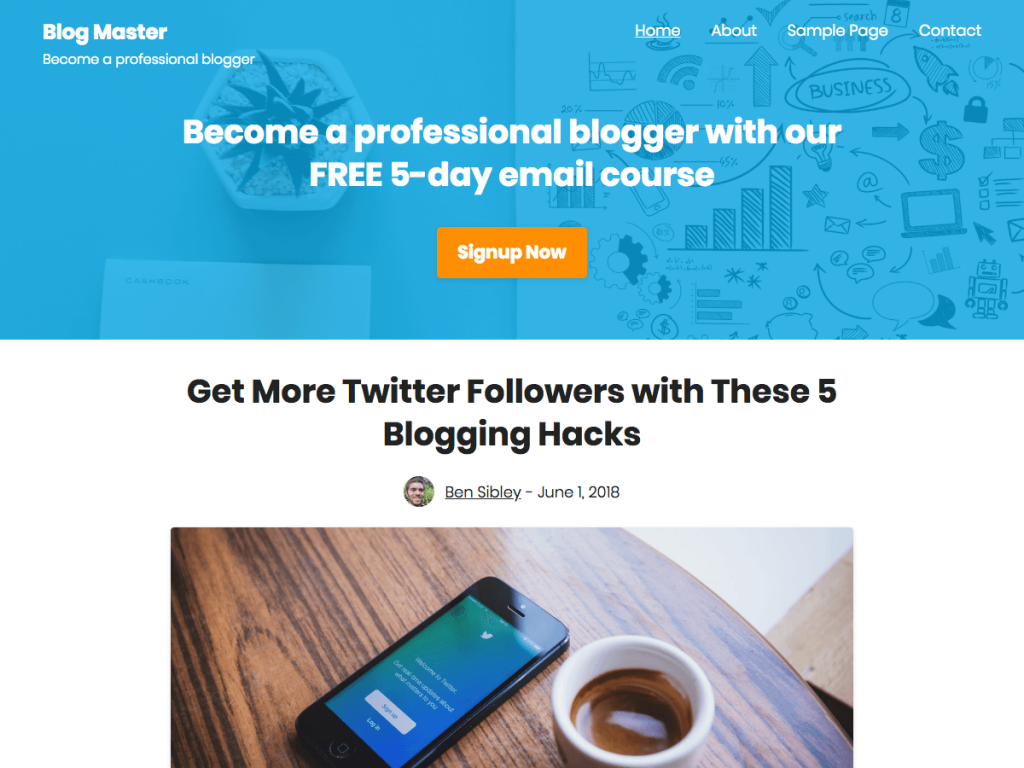 Challenger WordPress Free Blogger Theme