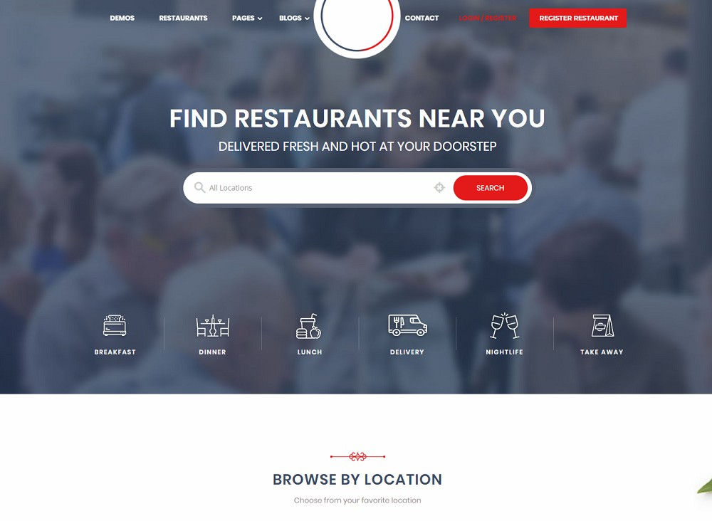 FoodBakery (Food Delivery WordPress Theme)