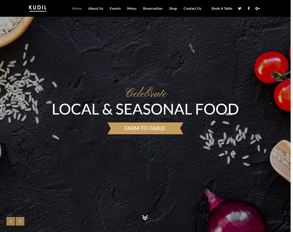 Kudil Restaurant & Food Delivery WordPress Theme
