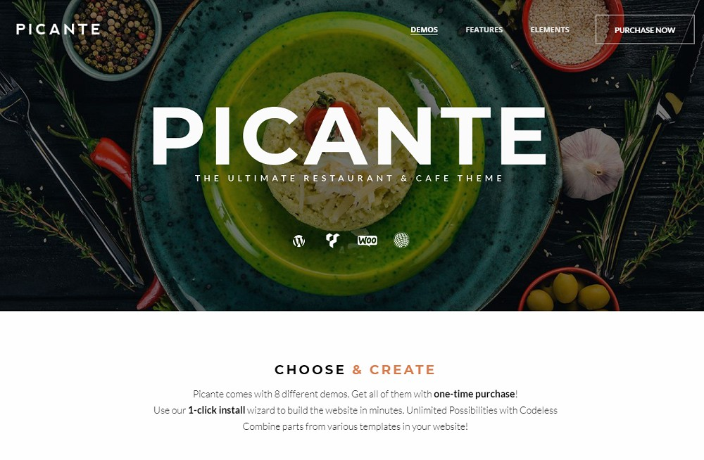 Picante (Food Delivery WordPress Theme)