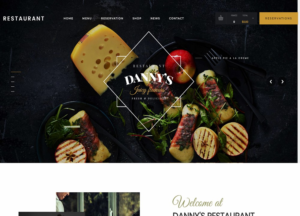 Restaurant Dannys (Food Delivery WordPress Theme)