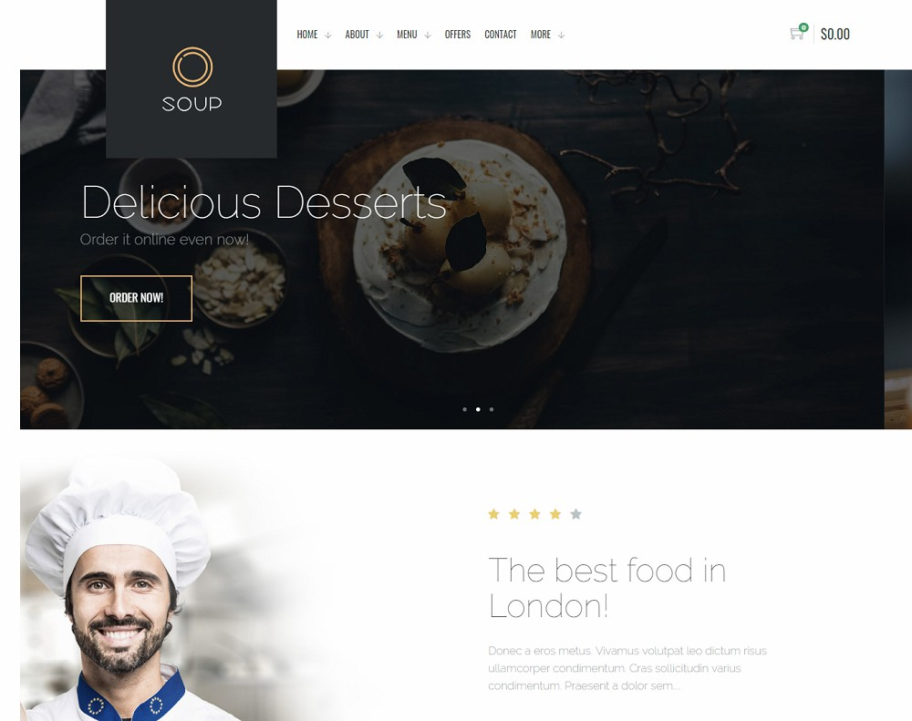 Soup (Food Ordering & Delivery WordPress Theme)