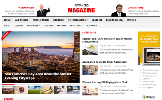 Advanced Magazine WordPress Theme