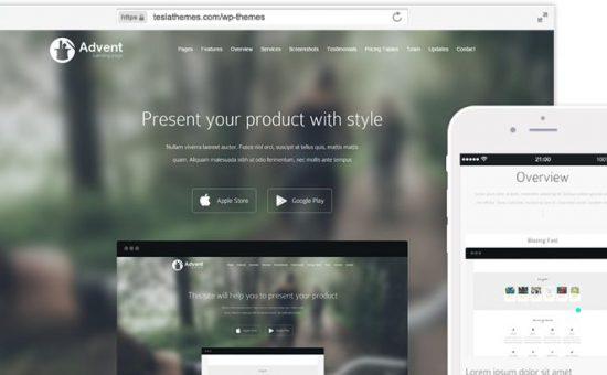 Advent WordPress Landing Page Theme