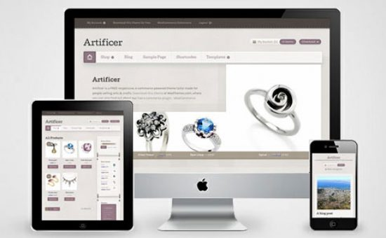 Artificer Responsive Free eCommerce Theme