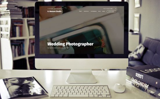 Benson WordPress Photographers Theme
