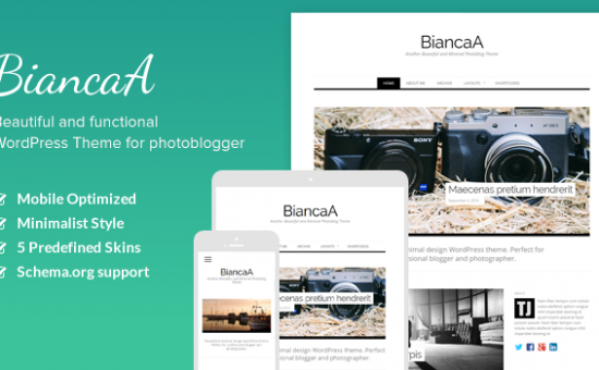BiancaA WordPress Photo Bloggers Theme