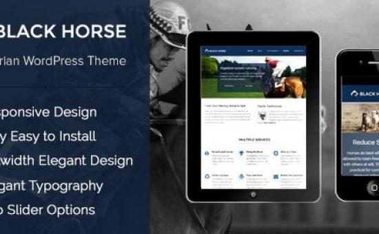 BlackHorse WordPress Horse Riding Club Theme