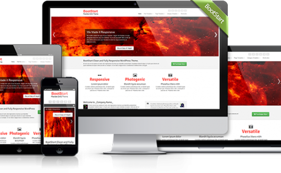 BootStart Responsive WordPress Business Theme