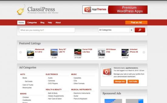 ClassiPress WordPress Classified Directory Theme