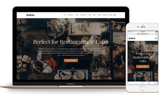 Delicio WordPress Restaurants Theme – Responsive Layout