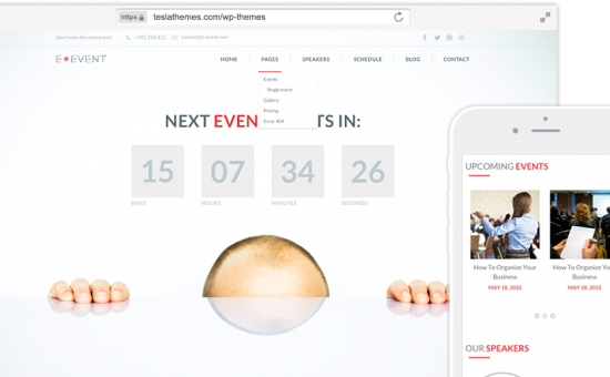 E-event WordPress Business Conference Events Theme