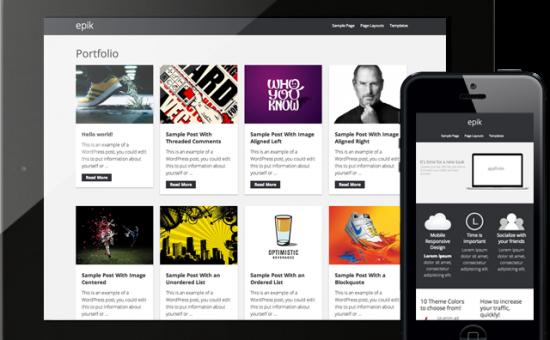 Epik 1.0 Responsive WordPress Portfolio Theme
