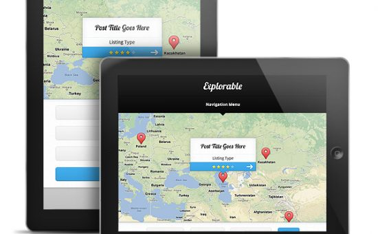 Explorable WordPress iPad Theme